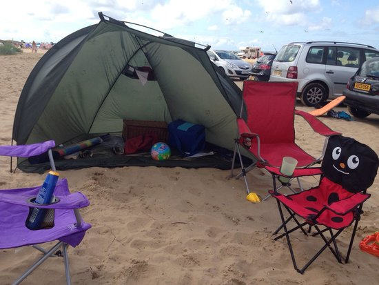 Ainsdale Beach: Our wee pitch for the day