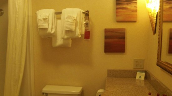 Ramada Toms River: Clean bathroom with luxurious touch.