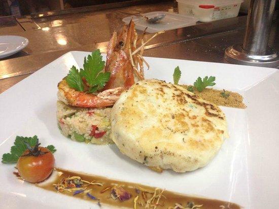 Spira: Seafood burguer / Hamburguesa de pescado