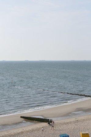 Strandhotel: Zimmer mit Meerblick