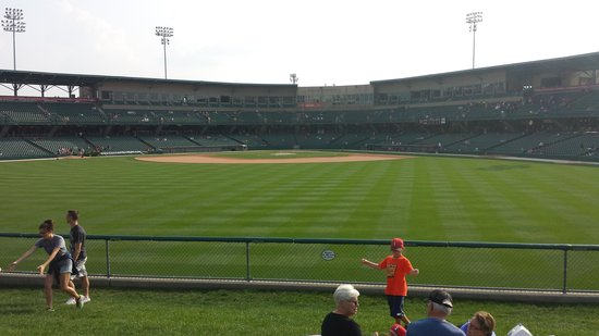 Victory Field: In left field looking to home