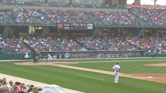 Victory Field: Section 119  Row N  looking to home