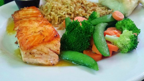 "Perkins Resturant and bakery: ""Grilled"" Salmon"