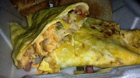Corner Cafe & Motel: Farmers omelet takeout