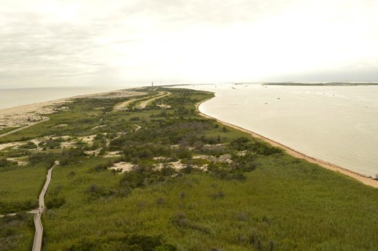 Fire Island Lighthouse : A top view from the lighthouse.