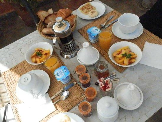Riad Danka: petit déjeuner