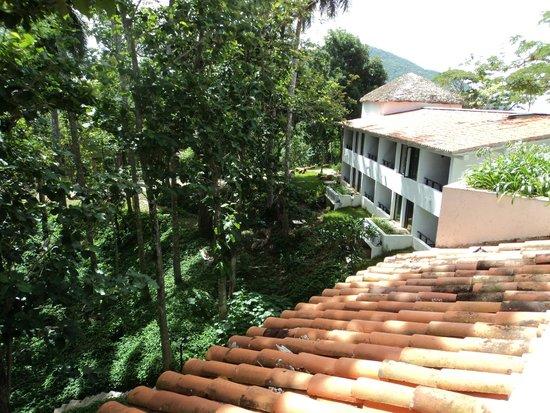 Hotel Moka: Vistas desde la parte trasera de la habitación.