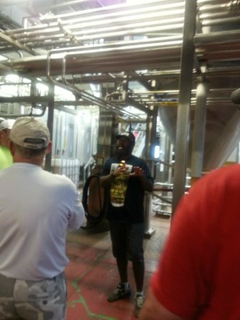 Boulevard Brewing Company: One of our tour guides