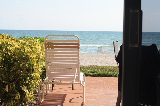 SeaHorse Beach Resort: View from within unit 227