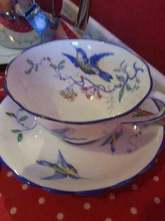The Bryn B&B: Tea out of a china cup :)