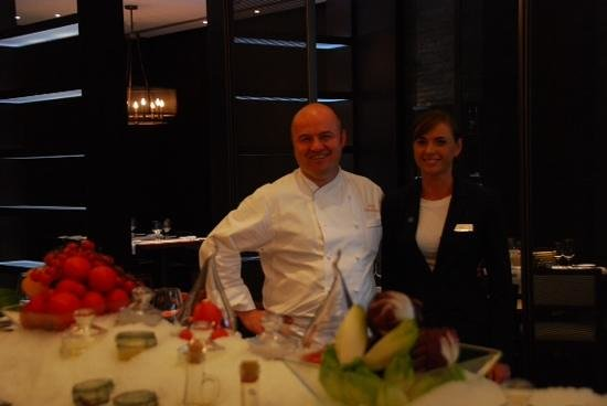 Hilton Kyiv : Say hello to Shota, Executive Chef, and the lovely Natalie, from the Hilton Restaurant