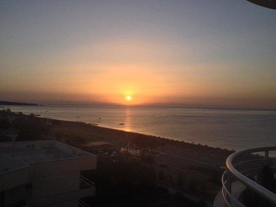 Pegasos Deluxe Beach Hotel: Aussicht von dem Balkon