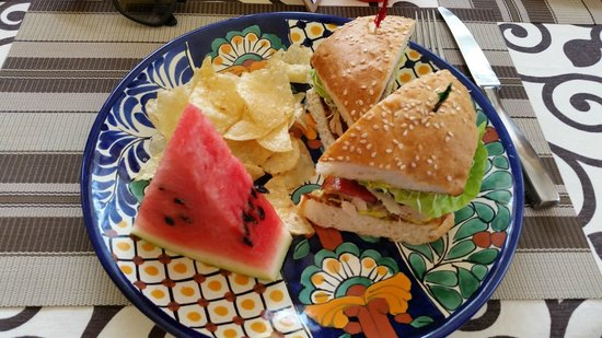Cha Cha's Kitchen: BLT, Watermelon, and chips