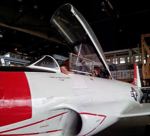 Naval Air Station Wildwood Aviation Museum : My son Trent in a MiG!