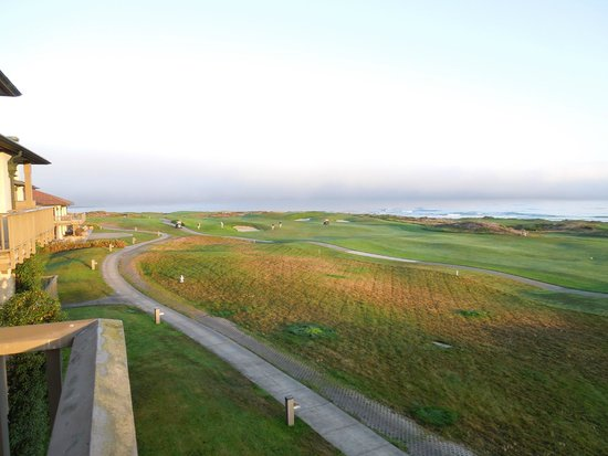 The Inn at Spanish Bay : Morning from Balcony overlooking first hole and ocean