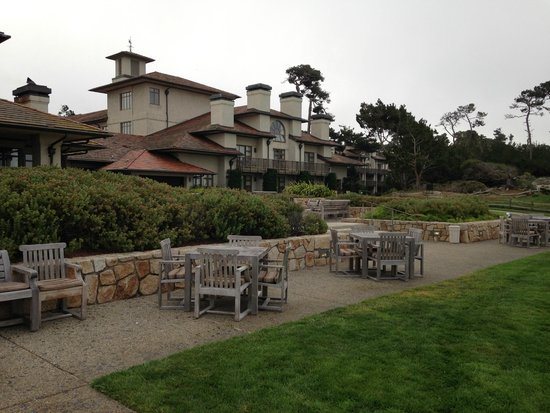 The Inn at Spanish Bay: Spanish Bay.  Roys restaurant back casual outdoor seating areas