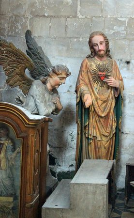 Saint-Omer Cathedral : Jesus talking to a kneeling angel
