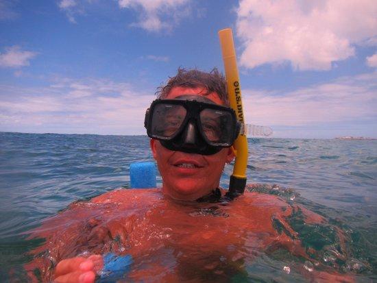 Random Wind: snorkeling off Simpson Bay