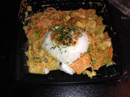 The Cheesecake Factory: Bang Bang Shrimp and Chicken-a bit sloppy ordered to go