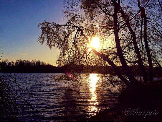 Heart Lake Conservation Area: Sunset at Heartlake.