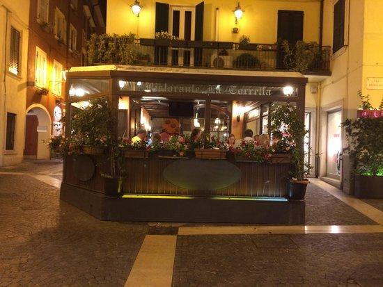 Ristorante La Torretta: Front side, alley on the left