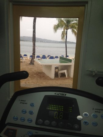 Windjammer Landing Villa Beach Resort: View from the gym - beautiful!