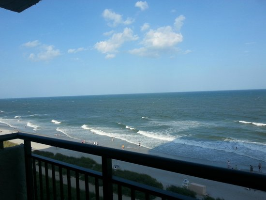 BlueWater Resort: looking northeast from unit balcony