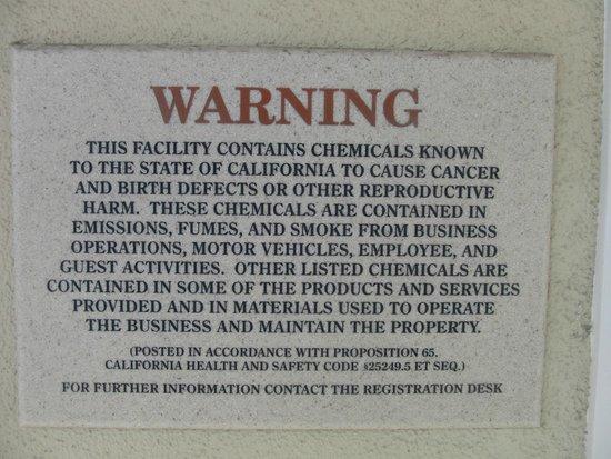 Hotel Miramar: Warning