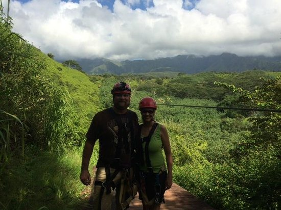Kauai Backcountry Adventures: This was coming off the fifth line