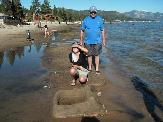Tahoe Sands Resort: Sandcastles on the beach