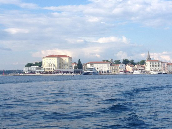 Valamar Riviera Hotel & Residence: View of Porec from Fortuna Island