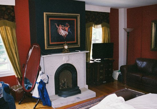 "Monier Manor: Fireplace in ""Elegence"" room"