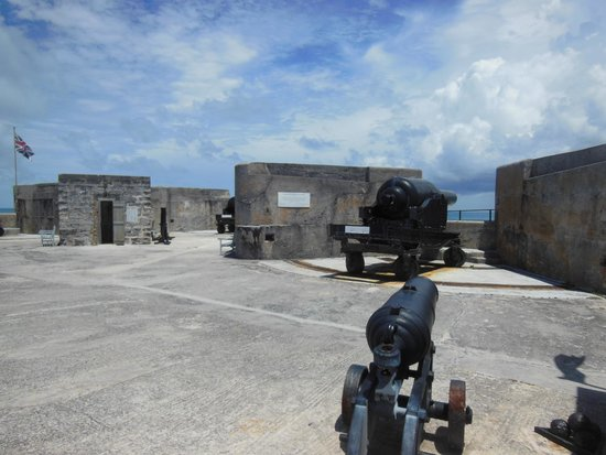 Fort St. Catherine: The fort's guns are trained out to sea