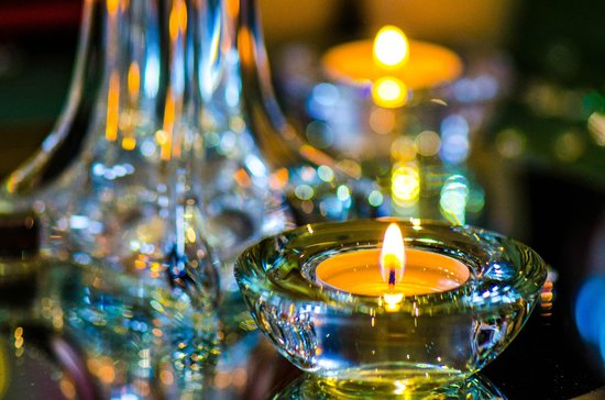 Lancaster House: Candle Decoration on Tables
