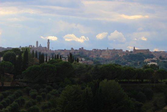 Castello delle Quattro Torra: View of Sienna from the bathroom