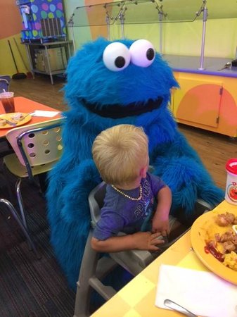 Sesame Place: Cookie Monster at Dine with Me
