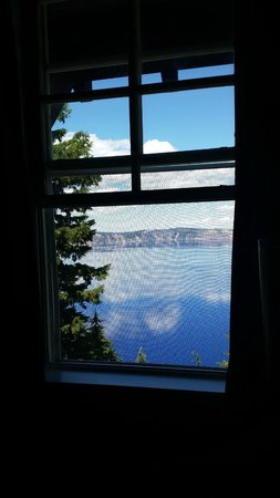Crater Lake Lodge: View from the room.