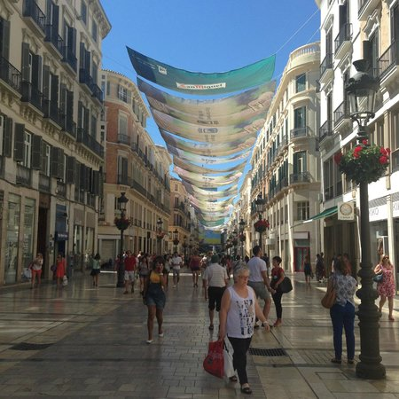 Salles Hotel Malaga Centro: Nearby shopping street, beautiful