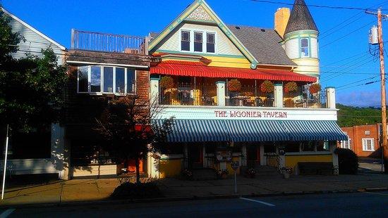 Ligonier Tavern: Street view, note bar is on left side