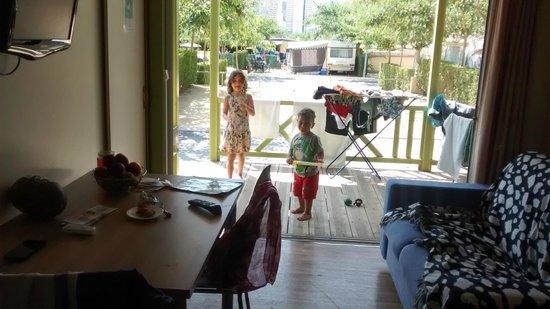 Camping Armanello: L'interno del bongalow