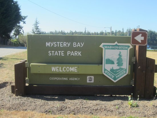 Marrowstone Island, WA: Mystery Bay State Park Sign