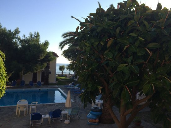 Iliessa Beach Hotel: vy över poolen