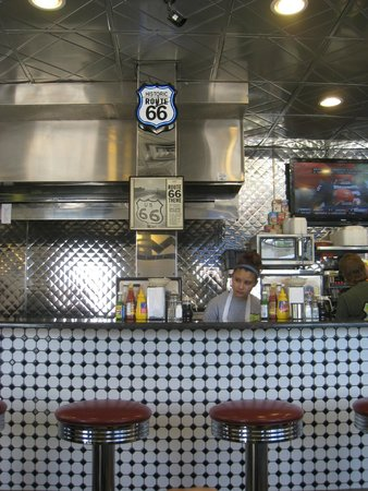 Steak n egger : Interior is full of Route 66 artifacts & memorabilia (C 2012 by M.R. Traska; all rights reserved