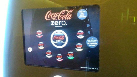 Cravings Buffet : High tech Coke machine.