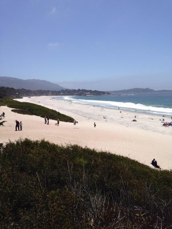 Carmel City Beach/Carmel River Beach: View to south and Point Lobos