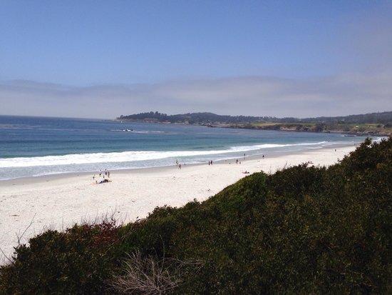 Carmel City Beach/Carmel River Beach: View to north and Pebble Beach area