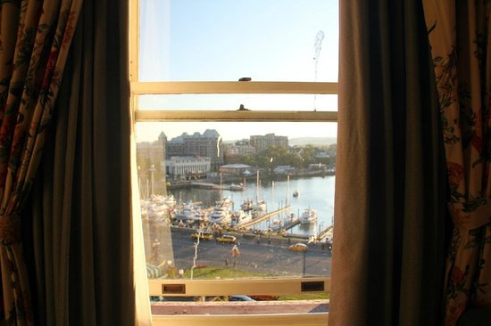 The Fairmont Empress: Harbor View Room - Window open as far as it would go