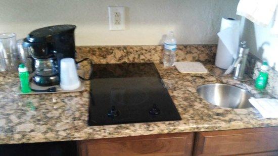 Tween Waters Inn Island Resort & Spa : 2 burner stove top, small round sink