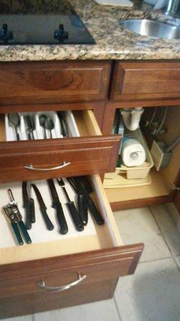Tween Waters Inn Island Resort & Spa : kit drawers