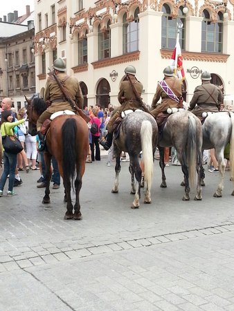 Historic Old Town : National Holiday in Krakow city centre